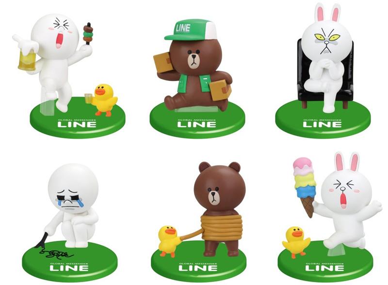 LINE CHARACTER Cony B Mini Bunny Rabbit Figure Messenger ...