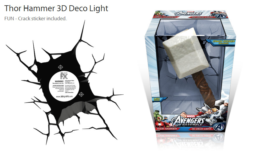 161698526896 besides Hasbro Marvel Legends Mjolnir Electronic Hammer furthermore 161698526896 as well ic Book Avengers Bedroom in addition 171309011672. on 3d light fx deco lights thor hammer