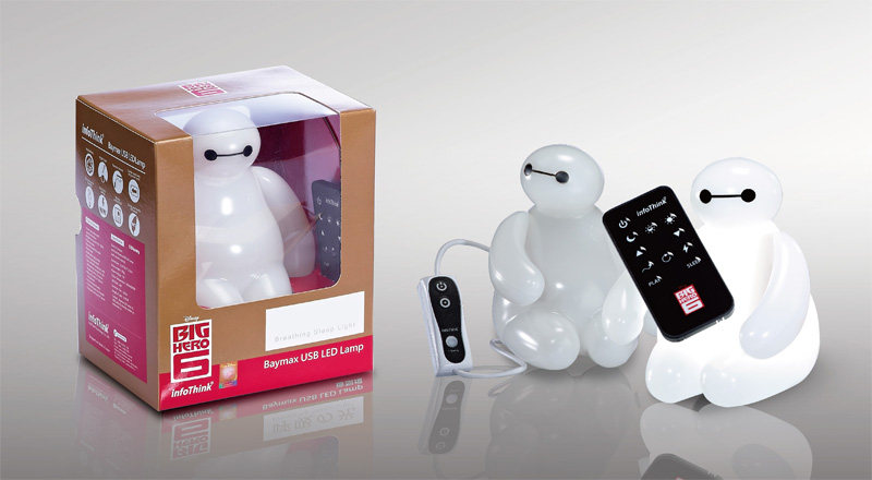 BIG HERO 6 Baymax USB LED Light Desktop Lamp with Remote 100 ...