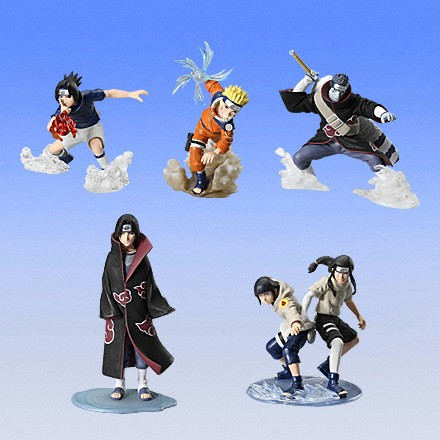 Naruto gashapon singles NARUTO CHIBI SASUKE SAKURA ROCK LEE PLAYMAT YUGIOH MAT, eBay