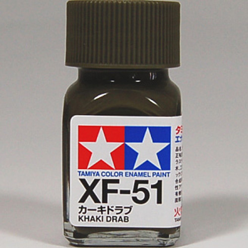 tamiya color enamel xf 51 khaki drab model kit paint 10ml new ebay. Black Bedroom Furniture Sets. Home Design Ideas