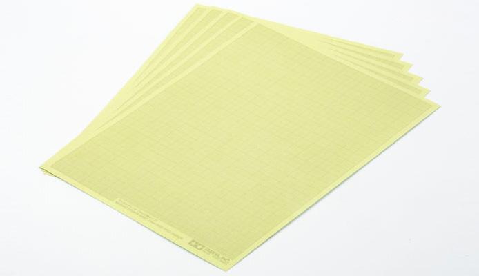 Tamiya 87129 masking sticker sheet 1mm grid type 5pcs for Plastic grid sheets crafts